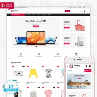 Buxpay - The MultiStore PrestaShop Theme