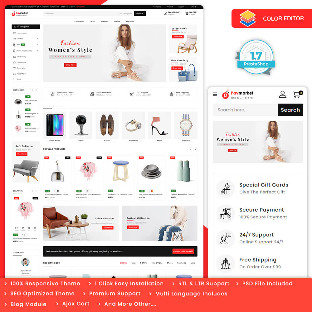 PayMarket - The Multi Store Template