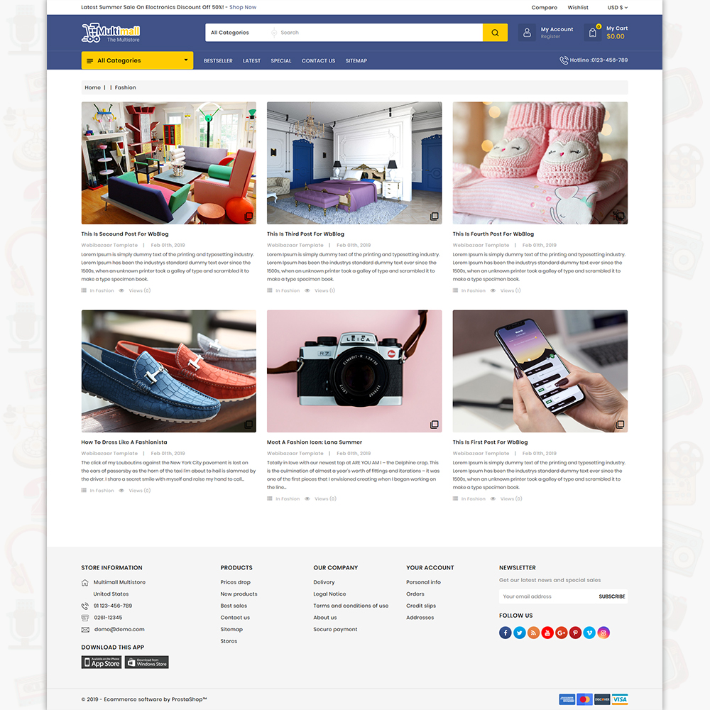 Multimall - The Best MultiStore Template