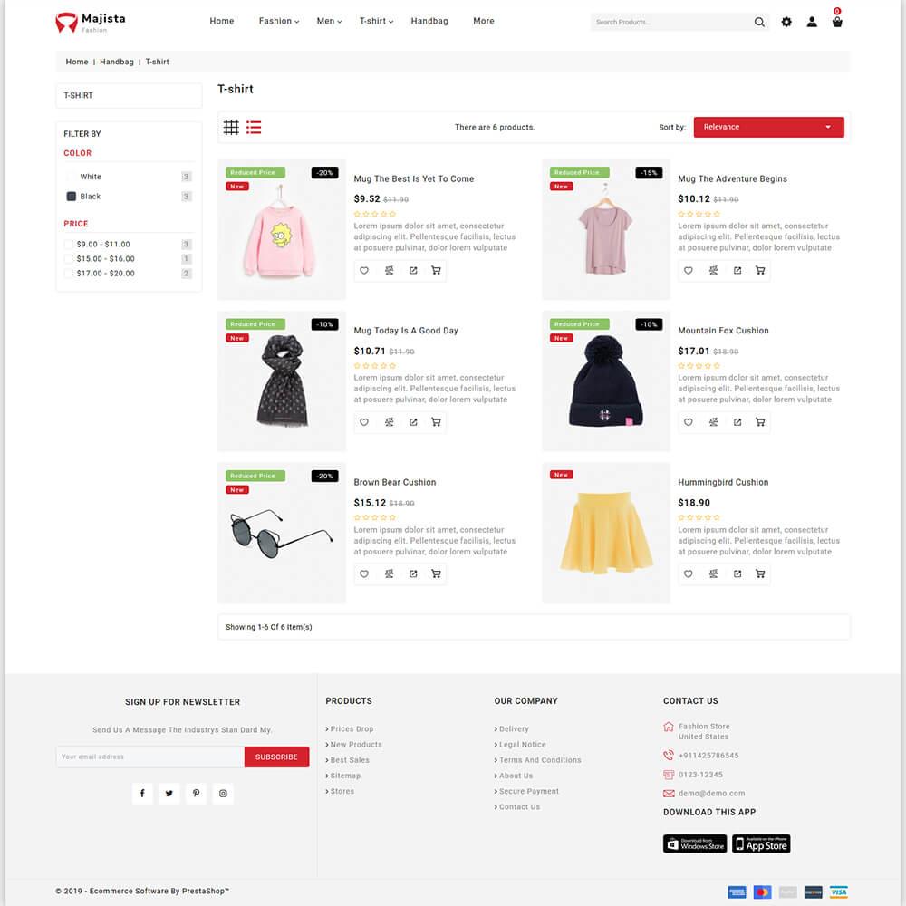 Majista - The Fashion Store Template