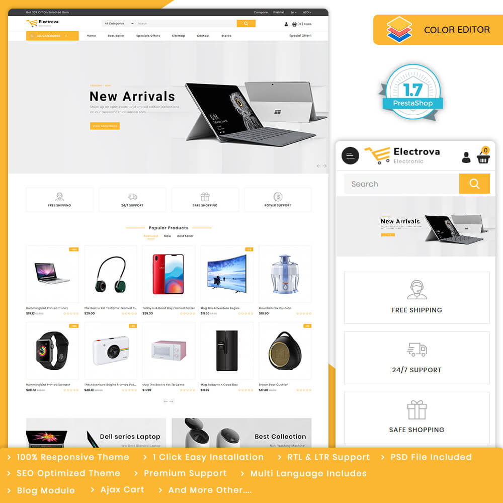 Electrova - The Electronic Store Template