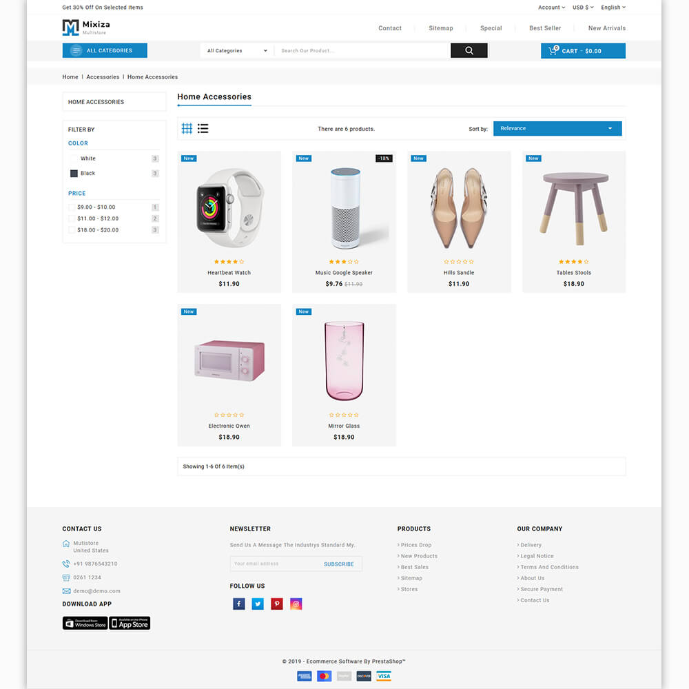 Mixiza The MultiStore Template