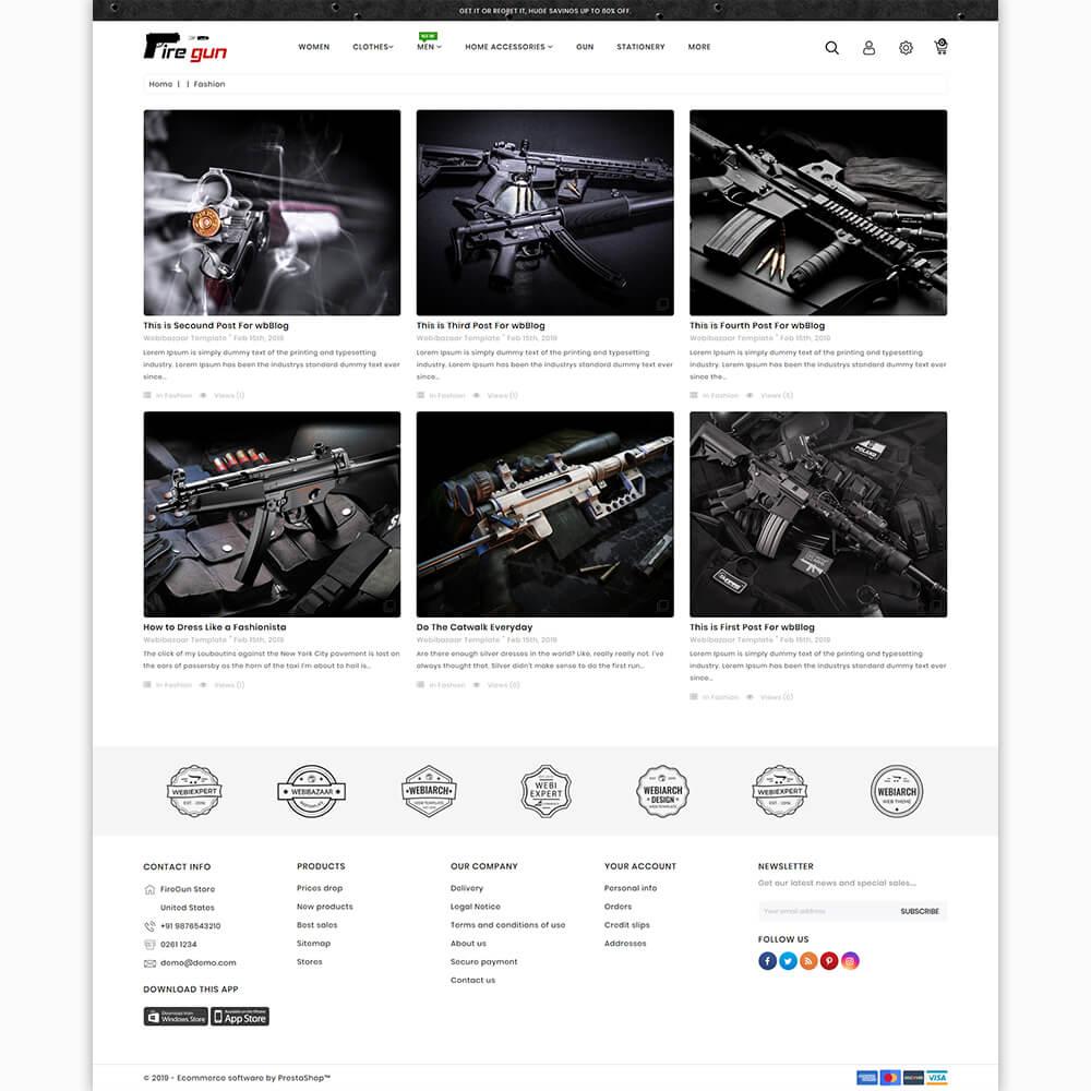 Firegun - The Best Gun Store Template