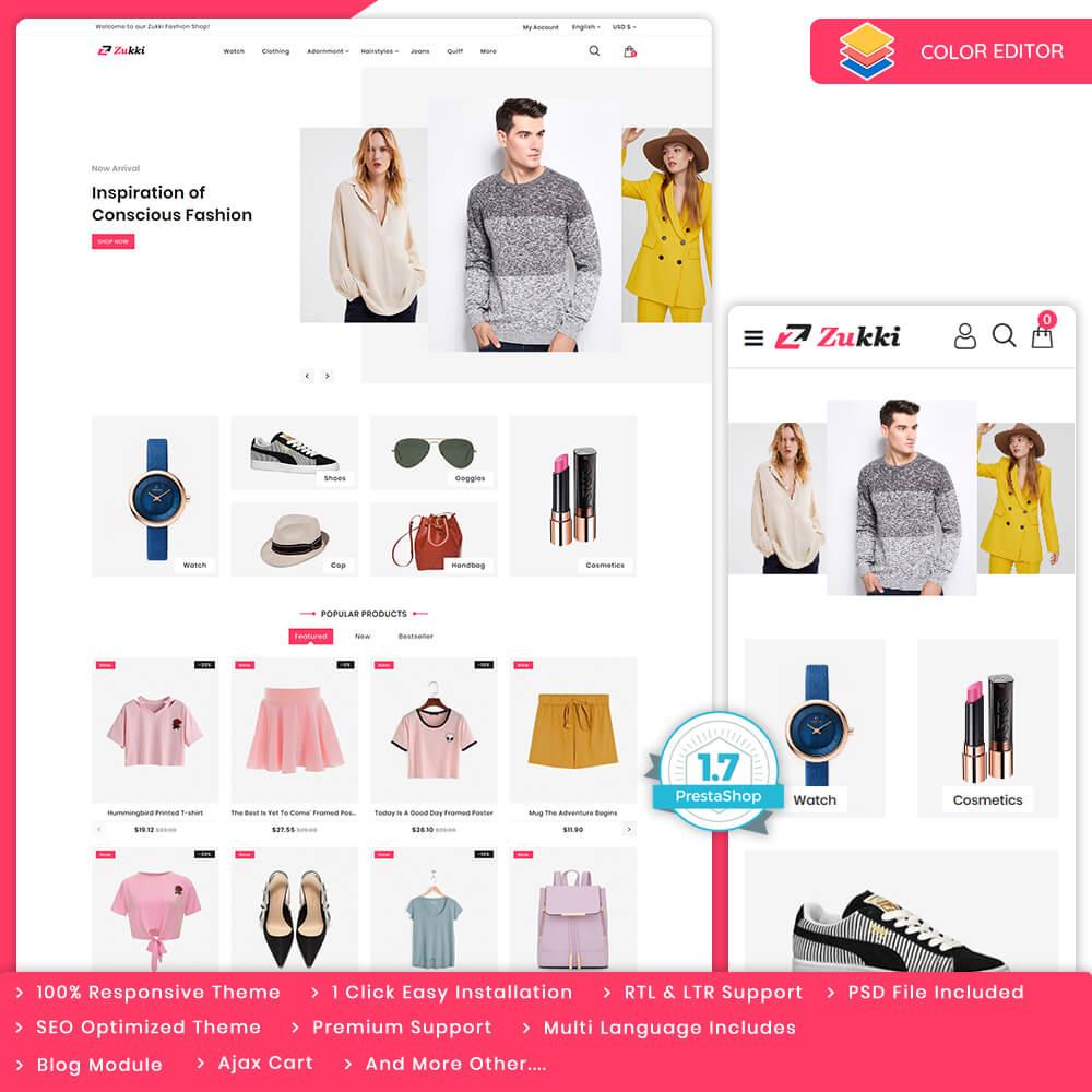 Zukki - The Fashion Store Template