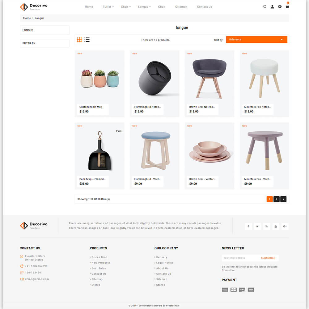 Decorivo - The Furniture Store Template
