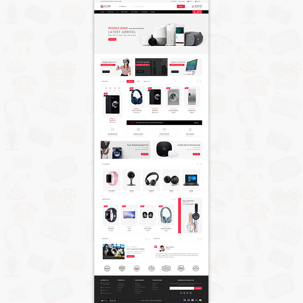 Techtool - The Electronics Store Template