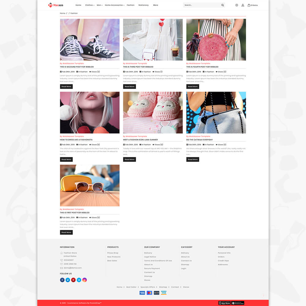 Macazo - The Fashion Store Template