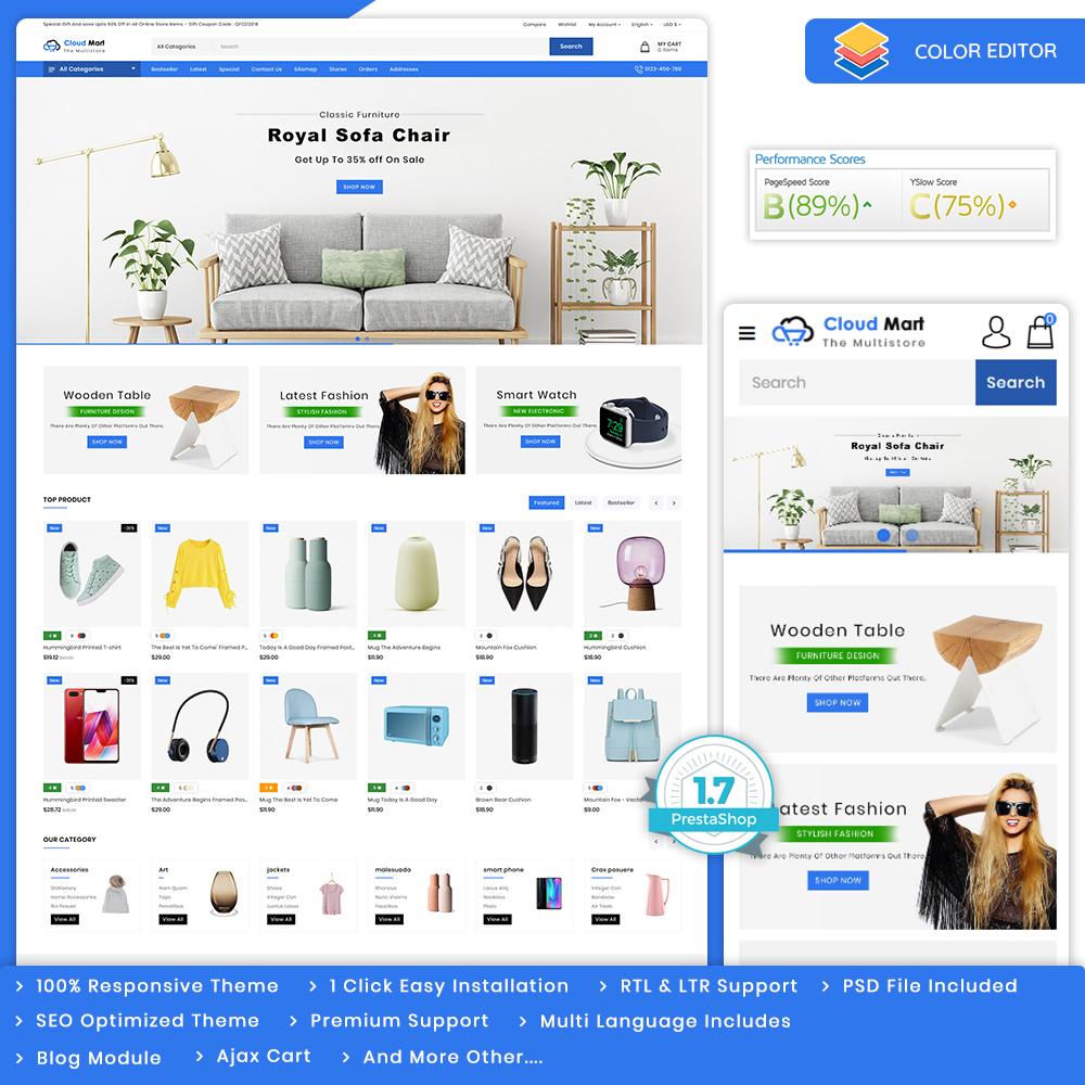 CloudMart - The MultiStore Theme Template