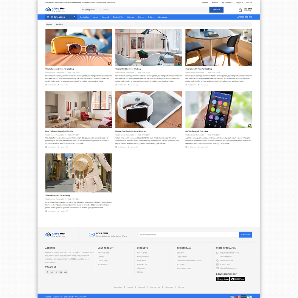 CloudMart - The MultiStore Theme Template