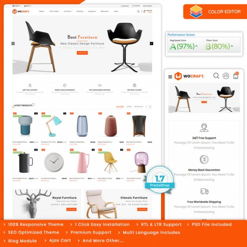 Wocraft - The Furniture PrestaShop Theme