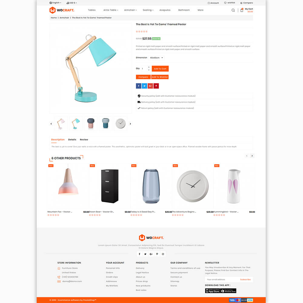 Wocraft - The Furniture Store Template