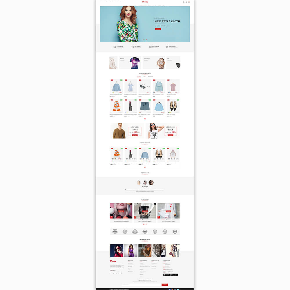 Raozy - The Fashion Store Template