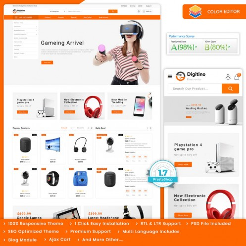 Digitino - The Electronics Store Template
