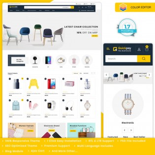 Quickpay - The MultiStore PrestaShop Theme