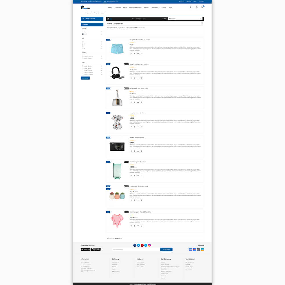 Shopbux - The MultiStore Theme Template