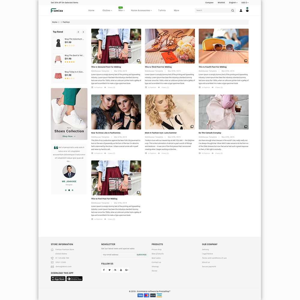 Famiza - The Fashion Store Template