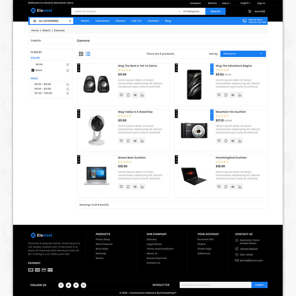 Electrol - The Electronics Store Template