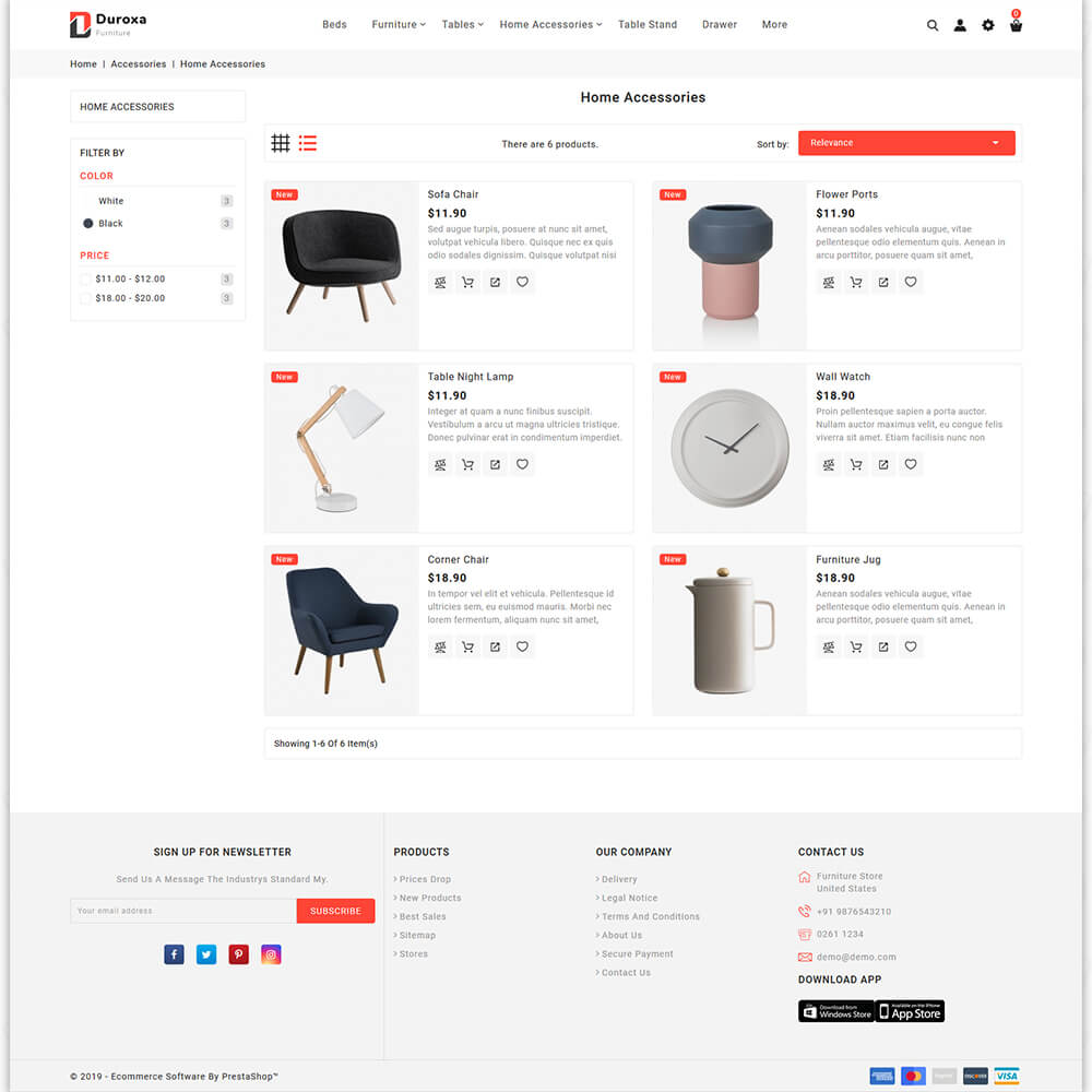 Duroxa - The Furniture Store Template
