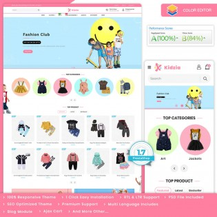 Kidzia - The Best Kids PrestaShop Theme