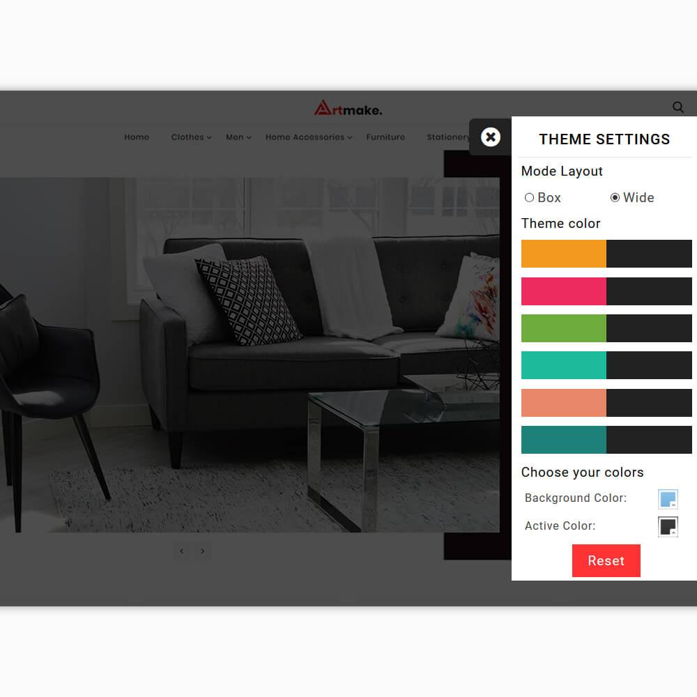 Artmake - The Furniture PrestaShop Template