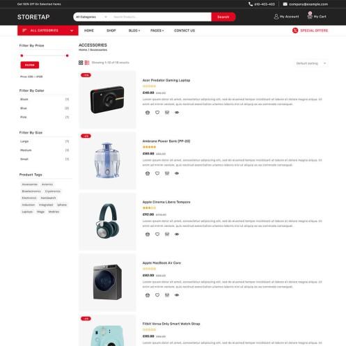 Storetap Electronics Woocommerce Theme