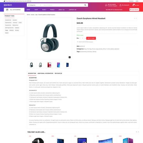 Quixly Electronics WooCommerce Theme