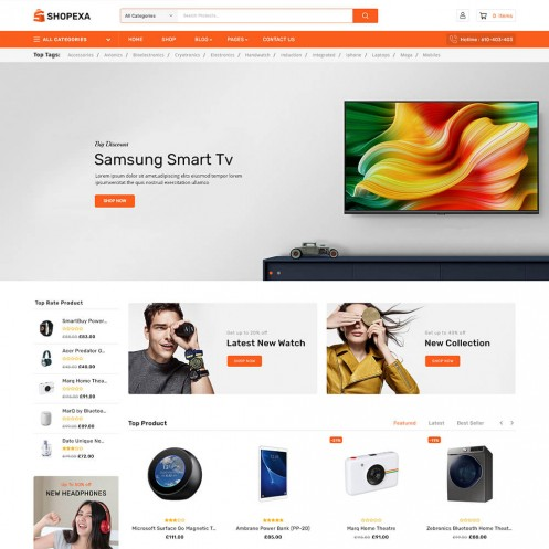 Shopexa Electronics WooCommerce Theme