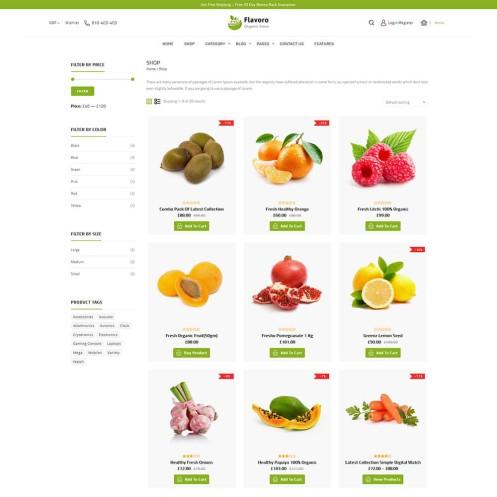 Flavoro Organic WooCommerce Theme
