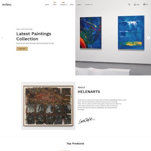 Artista Painting WooCommerce Theme