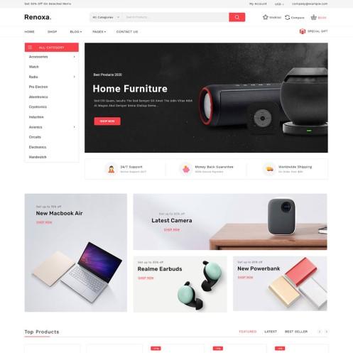 Renoxa Multistore WooCommerce Theme