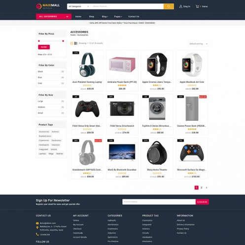 Maximall Multistore WooCommerce Theme