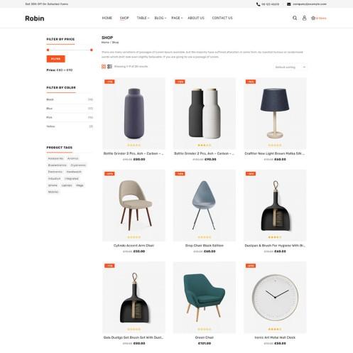 Robin Furniture WooCommerce Theme