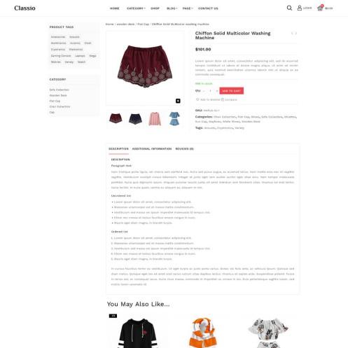 Classio Fashion WooCommerce Theme