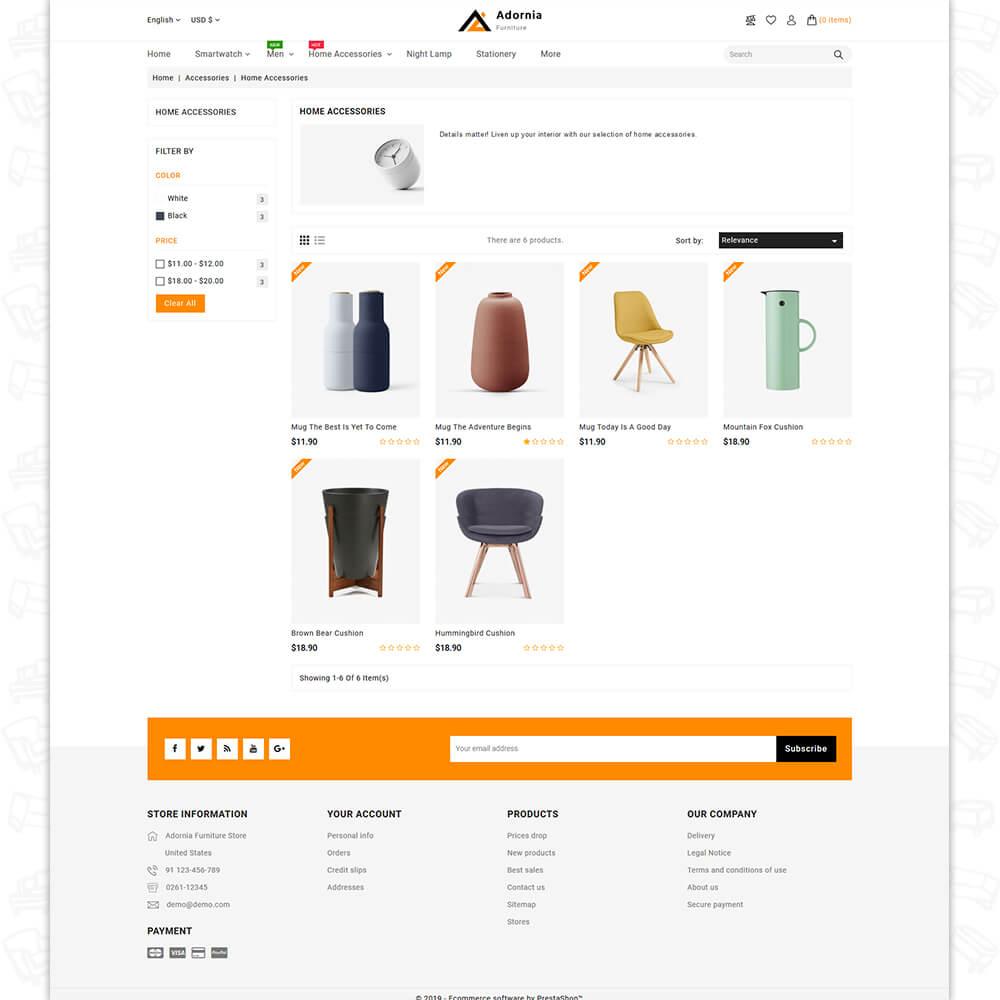 Adornia - The Furniture PrestaShop Template