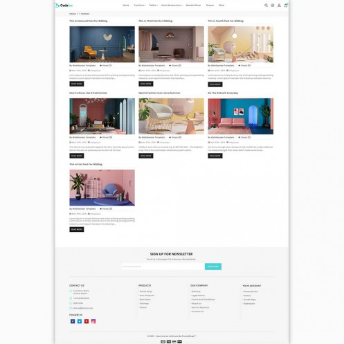 Codelux - The Furniture PrestaShop Theme
