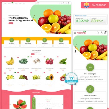 Netranix - The Organic Food PrestaShop Theme