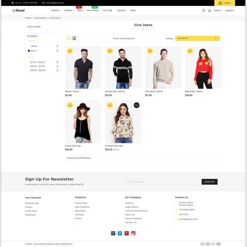 Sizani - The Best Fashion PrestaShop Theme