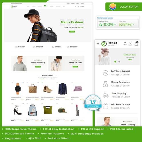 Rexez - The Best Fashion PrestaShop Theme