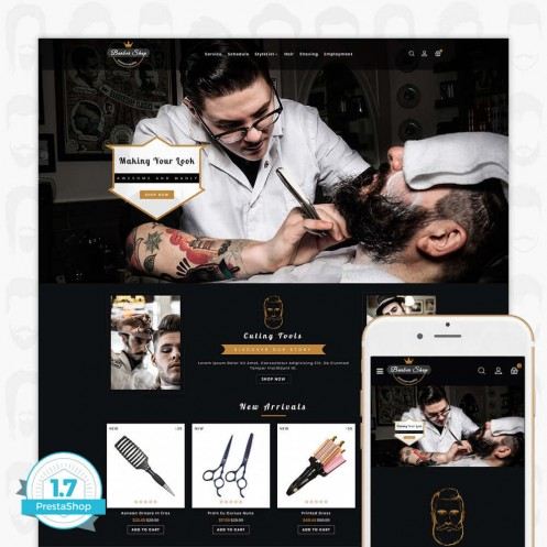 Barber Shop - The Premium Shop - PrestaShop Theme