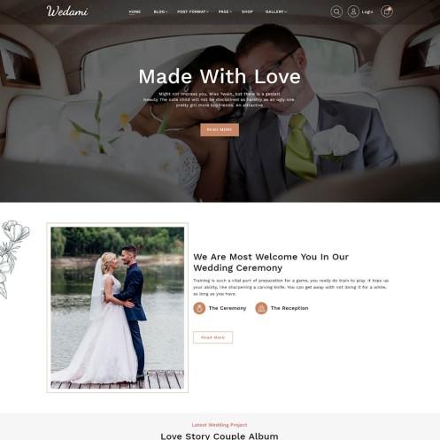 Wedami Wedding WordPress Theme