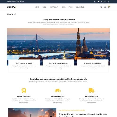 Buildry construction Blog Post WordPress Theme
