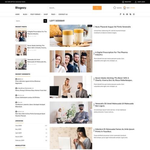 Blogezy Business News WordPress Theme
