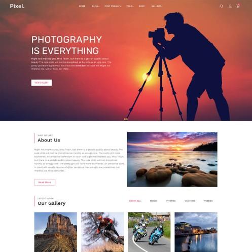 Pixel Photography Wordpress Theme