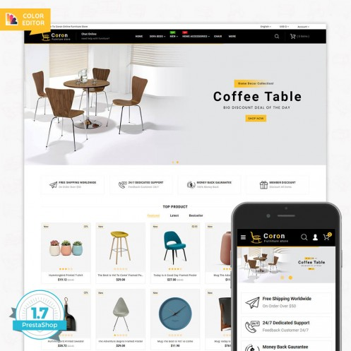 Coron The Best Furniture PrestaShop Theme