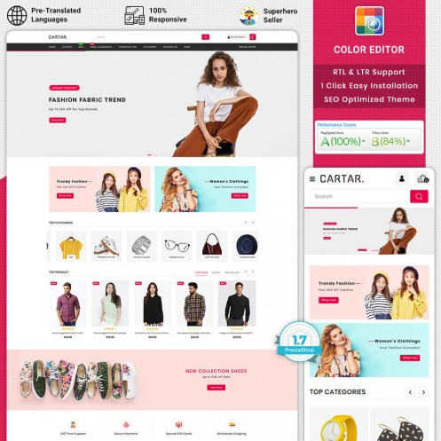 Cartar - Fashion PrestaShop Theme