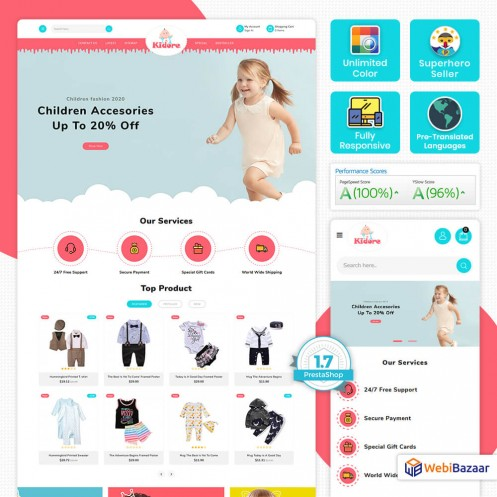 Kidor - The Kids Store Template