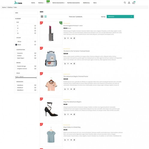 Beloza - Branded Shoes, Clothing & Fashion Accessories Template